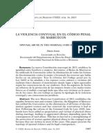 La Violencia Conyugal en El Código Penal de Marruecos