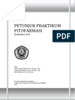 Petunjuk Praktikum Fitofarmasi Kurikulum 2015