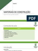 Aula 8 Materiais de Construção - Madeira