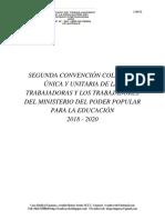 II Convención Colectiva Única y Unitaria de Las Trabajadoras y Los Trabajadores Del Ministerio Del Poder Popular Para La Educación 2018, SITE filial de FETRASINED en el estado Portuguesa