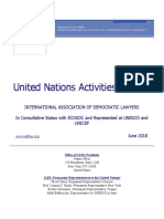 IADL United Nations Activities Bulletin - June 2018