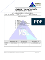 Procedimiento Instalación Red Contra Incendio - B