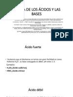 Fuerza de Los Ácidos y Las Bases