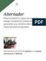 Alternador - Wikipedia, La Enciclopedia Libre