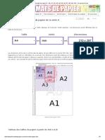 Dimensions de Formats de Papier a - A0, A1, A2, A3, A4, A5, A6, A7, A8, A9, A10 - En Pouces & Mm