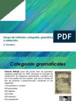 1a Sesión de Gramática. Grupo de Reflexión