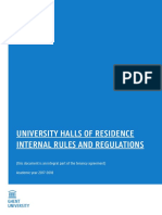 Internal Rules and Regulations University Halls of Residence 2017-2018