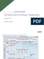 1.1 - Rhino-Grasshopper Introduction for Basic Operation