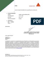 Certificado de Calidad Sika 3