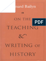 On the Teaching and Writing of History Responses to a Series of Questions