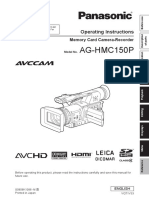 Panasonic AG-HMC150 P - camera instruction manual