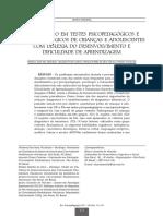 Artigo sobre testes psicopedagógicoa