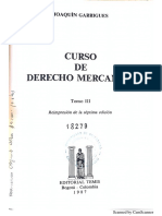 Curso de Derecho Mercantil- Garrigues