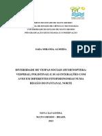 DIVERSIDADE DE VESPAS SOCIAIS