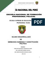 Pnp Silabo Desarrollado de Derechos Humanos y Constitucion Politica Mayo 2018 Locumba Tacna