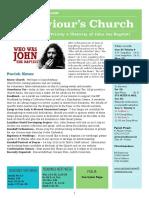 st saviours newsletter - 24 june 2018