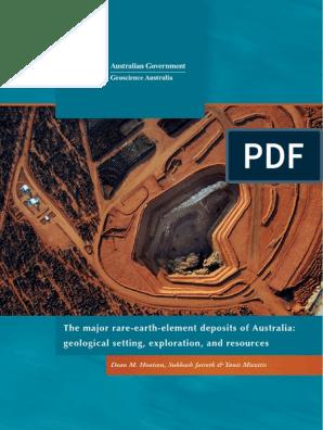 151 Quantum Rare Earth Developments Corp Reports Significant Update To Resource Estimate At The Elk Creek Niobium Deposit Nebraska >> The Major Rare Earth Element Deposits Of Australia