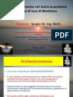Presentazione-Archeoastronomia Nel Sulcis-La Proteome Taurina Di Luce Di Montessu