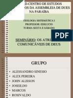 Seminario Os Atributos Comunicaveis de Deus