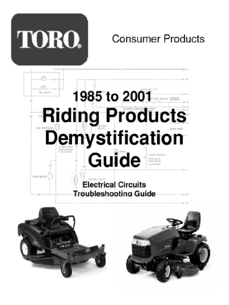 47347708 Toro Wheelhorse Demystification Electical Wiring Diagrams for All  WheelHorse Tractors | Alternating Current | Electrical Resistance And  Conductance