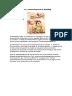 Causa y Consecuencia de La Obesidad