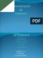 31316015 Administracion de Empresas