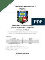 Espectroscopia UV-VIS Laboratorio Química Analítica UNALM - Informe N° 9