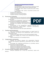Role and Work Flow of the Human Resources Department