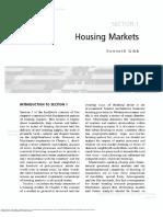 0 the SAGE Handbook of Housing Studies Section 1 Housing Markets