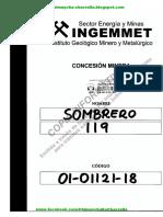 01-01121-18 Expediente Derecho Minero Sombrero 119