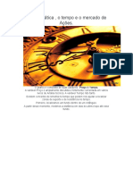 A Matemática , o Tempo e o Mercado de Ações.