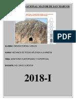Monitoreo Subterraneo y Superficial