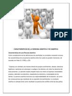 3.Caracteristicas de La Persona Asertiva y No Asertiva