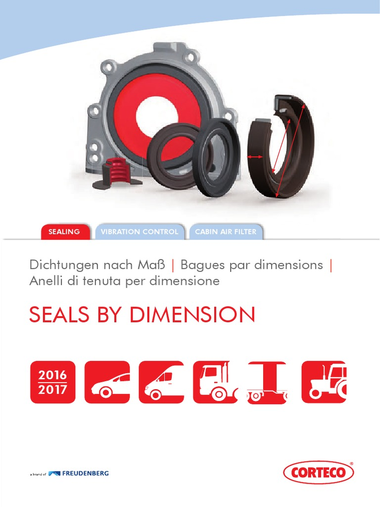 differential 12016792B CORTECO Shaft Seal