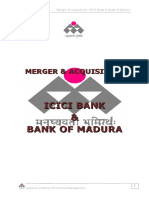 Merger of Icici Bank and Bom