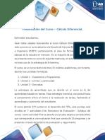 Presentación del curso Cálculo diferencial
