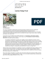 The Method of an Austrian Hedge Fund