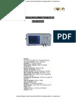 Osciloscopios Digitales 2 Canales de Mesa 96780 Pds6042s Owon Catalogo Español