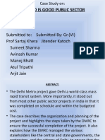Case Study on Delhi Metro