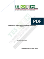 Cuadernillo de Quimica Para La Carrera de Ingenieria en Sistemas