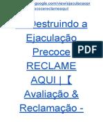 → Guia Destruindo a Ejaculação Precoce RECLAME AQUI  【Avaliação & Reclamação - Guia PDF ☛ GRÁTIS】