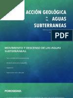 Acción Geológica Aguas Subterraneas UNI