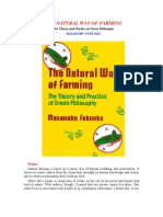THE NATURAL WAY OF FARMING - The Theory and Practice of Green Philosophy - MASANOBU FUKUOKA
