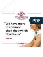 As Jo Said – We Have More in Common Than That Which Divides Us