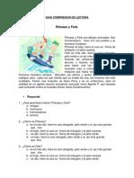 Comprensión Lectura Phineas y Ferb