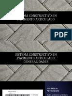 Sistema Constructivo en Pavimento Articulado