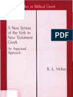 A New Syntax of the Verb in New Testament Greek