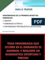 Hemorragias de La 1era Mitad Del Embarazo