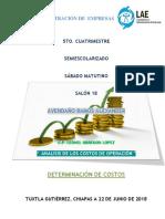 Analisis Costos de Operacion