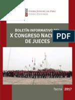 Boletín Informativo Del x Congreso Nacional de Jueces - Fondo Editorial Del Poder Judicial Del Perú.